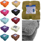 Teddy Throw Blanket Fleece Large Soft Warm Cuddly Sofa Double King Bed Cover