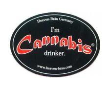 RARITÄT !!  schöner alter Aufkleber Cannabis Bier Heaven Bräu