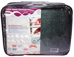 Corasol Premium Sonnensegel 3,6 x 3,6 m Waldgrün HDPE UV-Stabil quadratisch