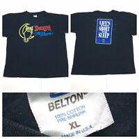 VTG Denny's Til Dawn Life Too Short To Sleep BLACK SINGLE STITCH USA T Shirt XL
