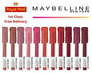 MAYBELLINE SuperStay Matte Ink Crayon Lipstick BRAND NEW Choose Shade Nude Red
