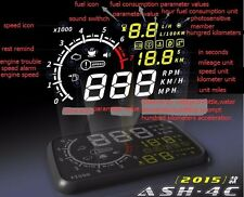 5.5'' Car HUD Head Up Display OBD Speed Warning System Fuel Consumption colorful