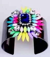 Multi Gem Statement Bracelet Cuff •Wedding Party Gift Present  BIRTHDAY EVENING