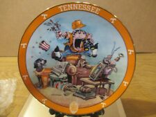 Tennessee Volunteers Collectors Plate Titled Tennessee Fan By The Danbury Mint C