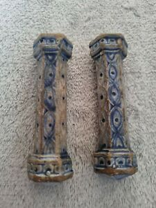 Antique 18thC Delft Pair Of Knife Rests