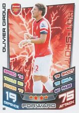 N°018 OLIVIER GIROUD # FRANCE ARSENAL.FC TRADING CARD MATCH ATTAX TOPPS 2013