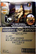 Hasbro Toys GI Joe 12 Inch US Army Courier & WLA 45 Harley-Davidson Motorcycle