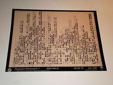 Microfich Ersatzteilkatalog BMW 524td / E28 - Stand 04/1983