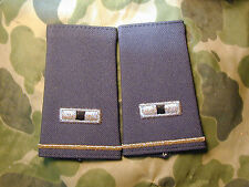 Pair of Army WO 1 slip on rank for Dress Uniform Desert Storm Era New GREEN