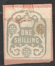 La Reina Victoria - 1s Azul ingresos en papel-enero de 1900,
