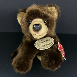 "Yomiko Classics Russ Grizzly Bear Plush Brown 10"" Stuffed Animal NWT FAST SHIP"