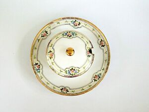 Antique Hand-painted Nippon Mayonnaise/Condiment Bowl w/attached Underplate