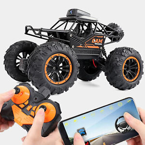RC Car with Camera 1:18 Scale Remote Control Electric Crawler Toy for Gift