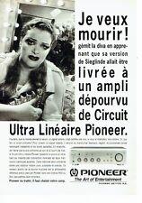 PUBLICITE ADVERTISING 126  1993   circuit ultra linéaire Pioneer