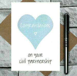 civil partnership card - congratulations card - non wedding card - equal rights