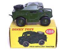 DINKY TOYS No.688 Morris C8 campo Trattore D'Artiglieria (in scatola e buone condizioni)