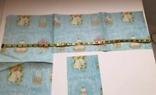 Vintage Antique Gift Wrap Paper Wedding Blue 2 Small Pieces Craft Scrapbook Art