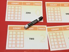 Number Name &  Tens Frame O-20 - Laminated Dry Erase cards - Teaching supplies