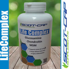 Glucosamine Chondroitin MSM 600mg Capsules - Joint Support Aid - 360 Cap Bottle