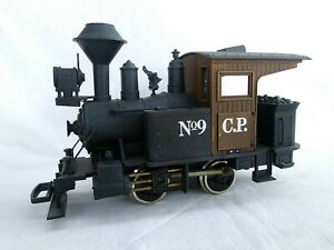 KALAMAZOO G SCALE CENTRAL PACIFIC 0-4-0 No. 9 TRACK LAYER LOCOMOTIVE - NICE!!