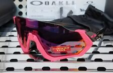 New Oakley FLIGHT JACKET 9401-0637 Sunglasses Mate Neon Pink-Black w/ Prizm Road
