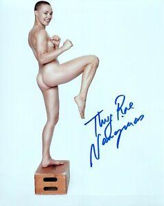 THUG ROSE NAMAJUNAS Autograph Signed 8x10 Photo #23 UFC STRAWWEIGHT CHAMPION