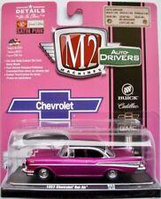 1957 Chevrolet Bel Air  satin pink  / M2 Machines 1:64