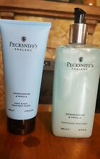 Lot of 2 Pecksniff's Sandalwood & Vanilla Hand Wash AND Hand & Nail Cream NEW!!