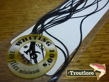 #16 BLACK WHITING 100's PACK DRY FLY SADDLE HACKLE FEATHERS WHITING FARMS NEW