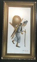 VINTAGE KOREAN OIL PAINTING SIGNED YUN HI SOO FREE SHIPPING