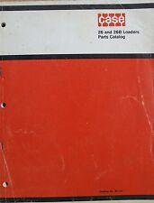 Original CASE Parts Catalog B1124 26 And 26B Loaders For 480/480B Tractors 1972