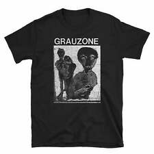 Vintage 1990s Grauzone She Past Away Tour Black T-shirt Unisex All Size M542
