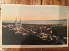 POSTCARD UNUSED CANADA, QUEBEC- STE. ANNE DE BEAUPRE, TOWN SEEN FOR THE HILL