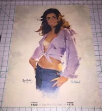 Original Vintage Poster Sexy Girl Woman 1920 1975 Fifty Fifth Year Mayo Olmstead