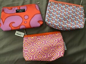 NEW Lot of 3 Clinique Medium Size Cosmetic Make Up Bags