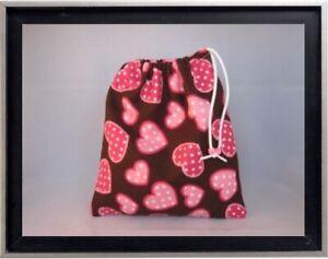 Gymnastics Leotard Grip Bags / Brown w/ Mini Hearts Gymnast Birthday Goody Bag
