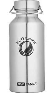 Edelstahltrinkflasche 2 Liter Vorratsflasche EcoTANKA mega m. Edelstahlverschlus