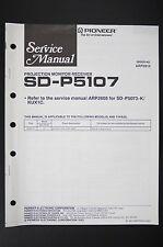 Pioneer sd-p5107 projection monitor receptor Service-Manual/esquema eléctrico o102