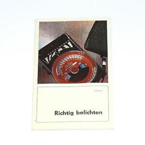 """Broschüre """"Richtig Belichten"""", (Vogel), deutsch vom Händler"""