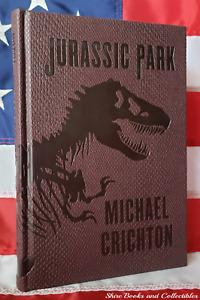 NEW Jurassic Park by Michael Crichton Deluxe Hardcover Dinosaur Skin Design