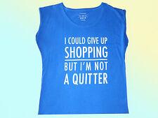 modern ladies Shirt t Shirt Size 48 blue w. writing Cotton