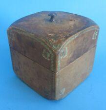Belle boite à cigare à cigarettes en bois et cuir wood and leather cigarette box