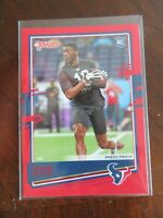 2020 Donruss Football Card Red Press Proof Isaiah Coulter RC Texans Cards NFL