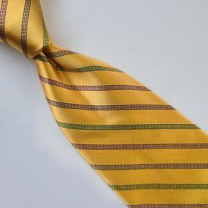 15A) NEW! BROOKS BROTHERS GOLDEN FLEECE STRIPED 100% SILK NECKTIE MADE IN USA