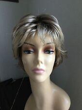 JON RENAU Short Shag Open Cap Wig, Blonde with darker roots 12FS8
