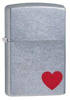 Zippo Regular Street Chrome Love Windproof Refillable Cigarette Petrol Lighter