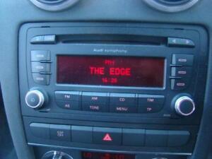 AUDI A3 RADIO/ CD PLAYER, 6 STACKER IN DASH, 8P, HATCHBACK, 06/04-02/13
