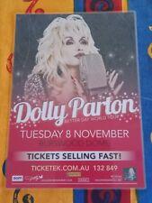 DOLLY PARTON  - 2011 BETTER DAY Australia Tour - PERTH - Laminated Promo Poster
