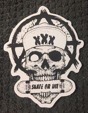 """Skull Skeleton SKATE OR DIE vinyl skateboard sticker decal 3"""" x 2 1/2"""" From US"""