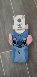 NEW Disney Lilo and STITCH Cosy Women's Ladies Slipper Socks with 3D Ears 4-8UK